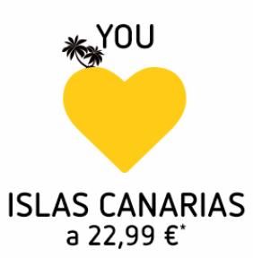 Vuelos Islas Canarias a 22,99€