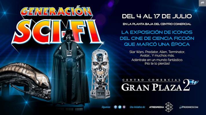 Exposición Cine Sci-Fi GRATUITA Majadahonda Madrid