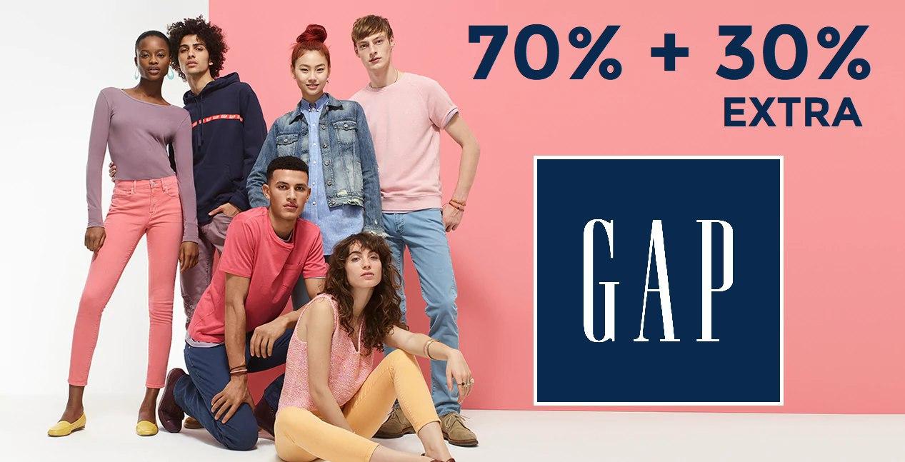 Ropa de GAP al 70% + 30% EXTRA