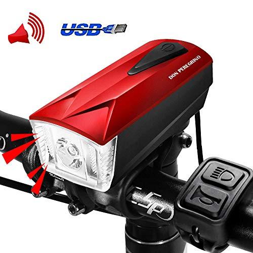 LED Luz Bicicleta Delantera USB Recargable