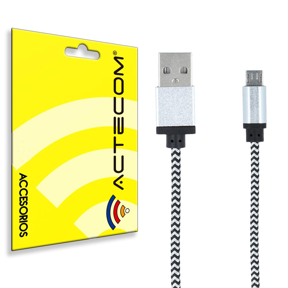 Cable micro USB de carga y datos con protección de nylon, correos sampling