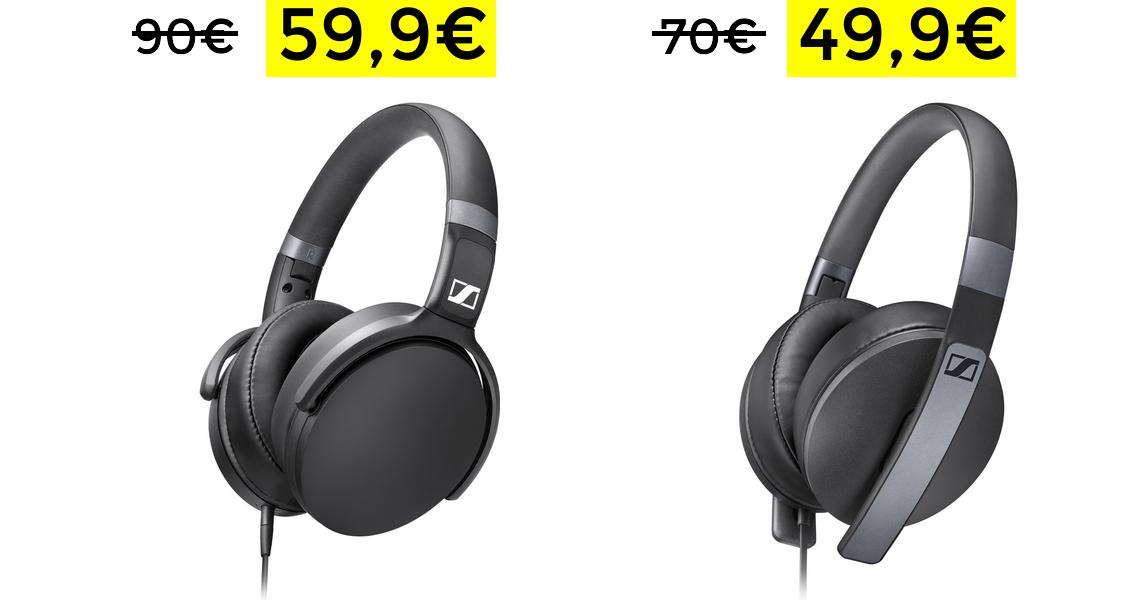 Sennheiser HD 4.3 auriculares solo 59.9€
