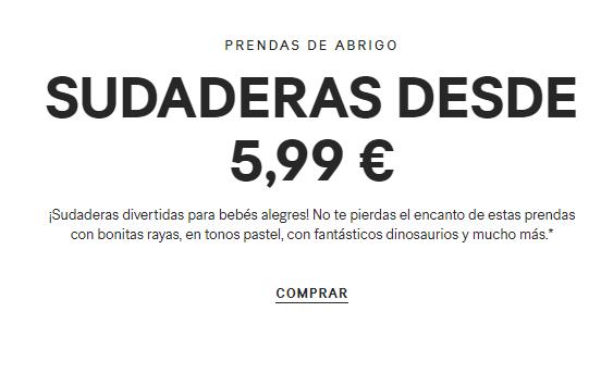 Sudaderas bebes a 5,99€ en HM