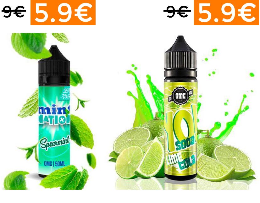 Oferta en líquidos Mint Nation y Yo Soda