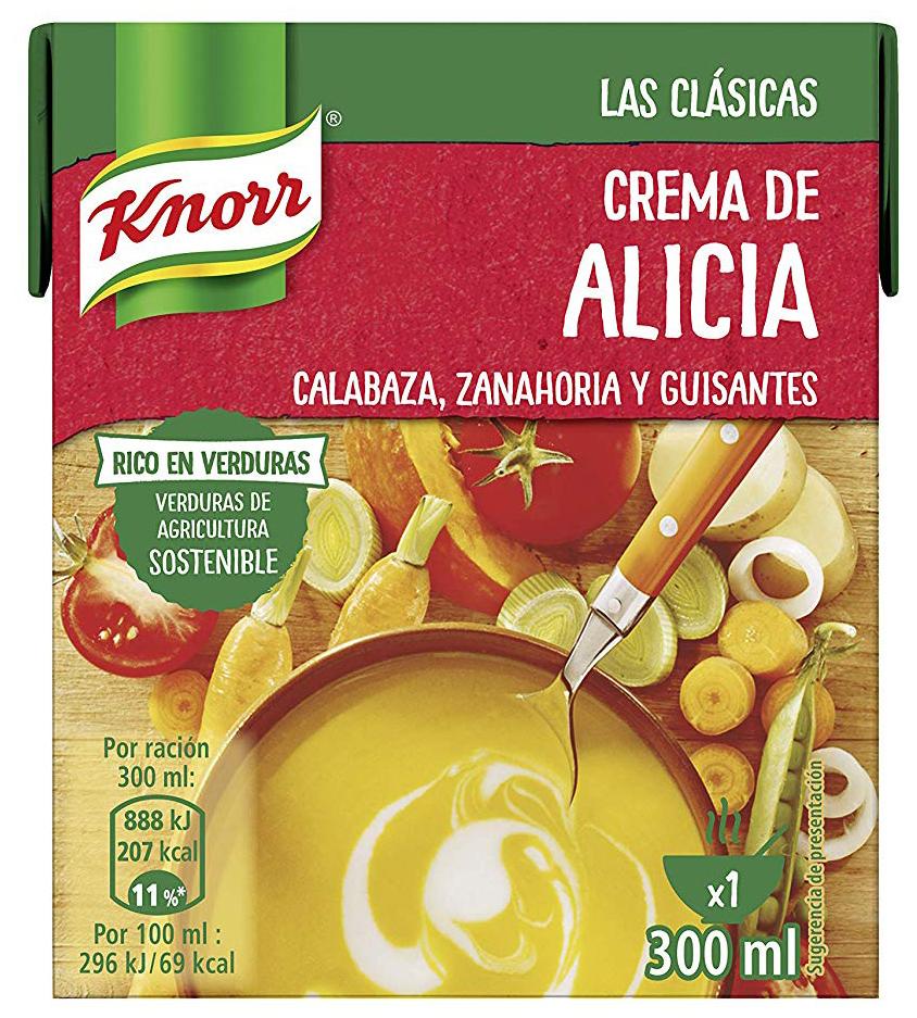 Knorr Las Clásicas Crema de Alicia - Pack de 12 x 300 ml - Total: 3.600 ml