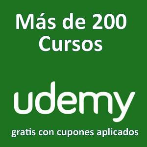 Más de 200 cursos nuevos, gratis, con cupones aplicados (Udemy, Inglés)