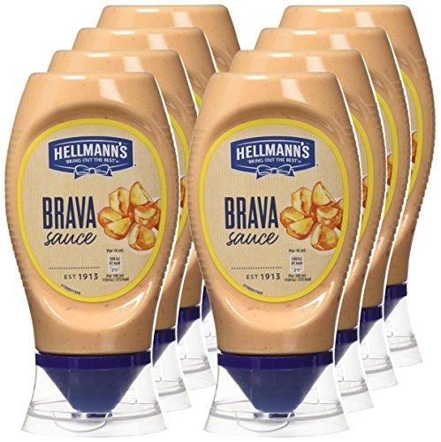 8 botes de Salsa Brava Hellmann's Bocabajo a 1€ c/u
