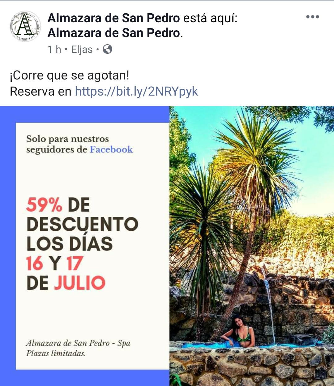 Almazara de San Pedro, Caceres 59% de descuento 16 y 17 Julio