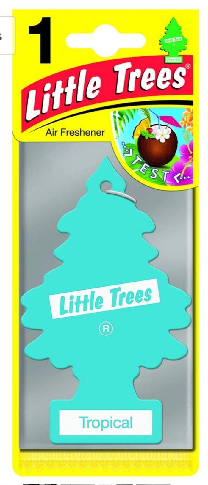 Ambientador Little Trees fragancia tropical (24 unidades)