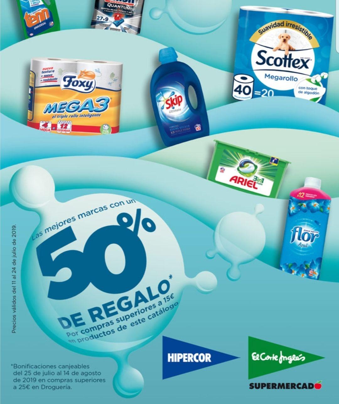 ¡¡¡Acumulación Brutal de Promociones!!! Casi 60% Descuento Productos Limpieza Hipercor / Supermercados El Corte Ingles