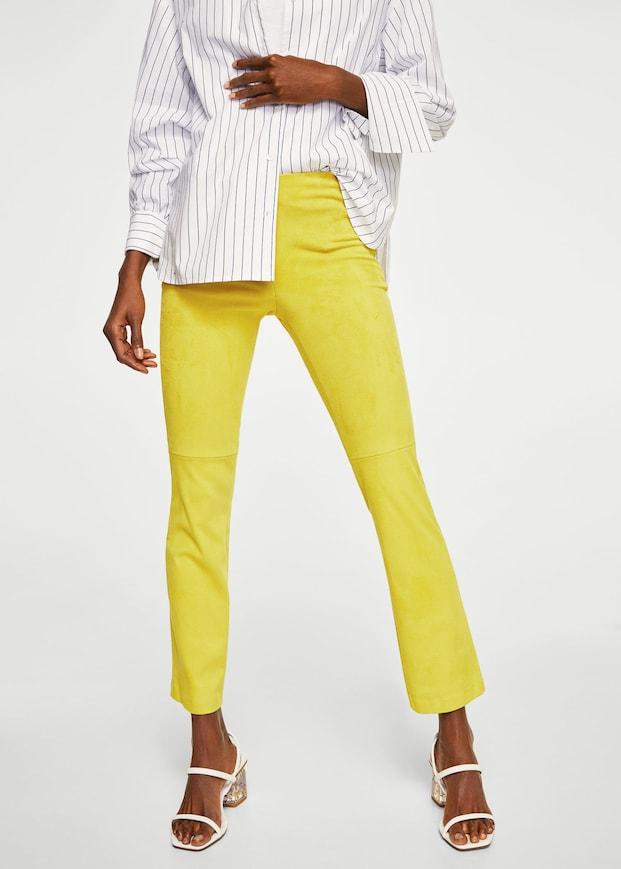 Pantalón recto Mango Outlet 2 colores