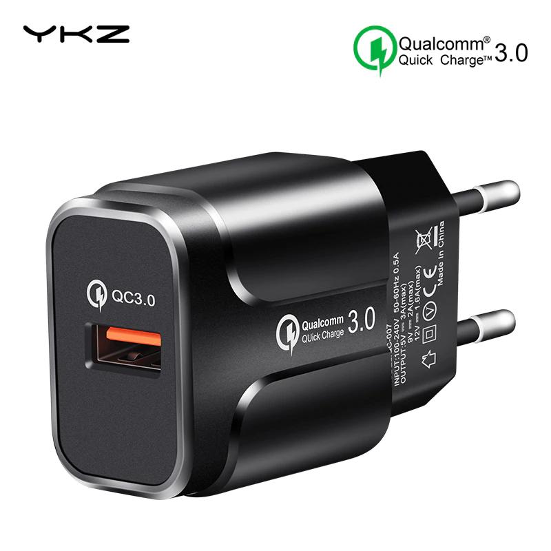 YKZ cargador rápido USB 3,0 QC 18 W