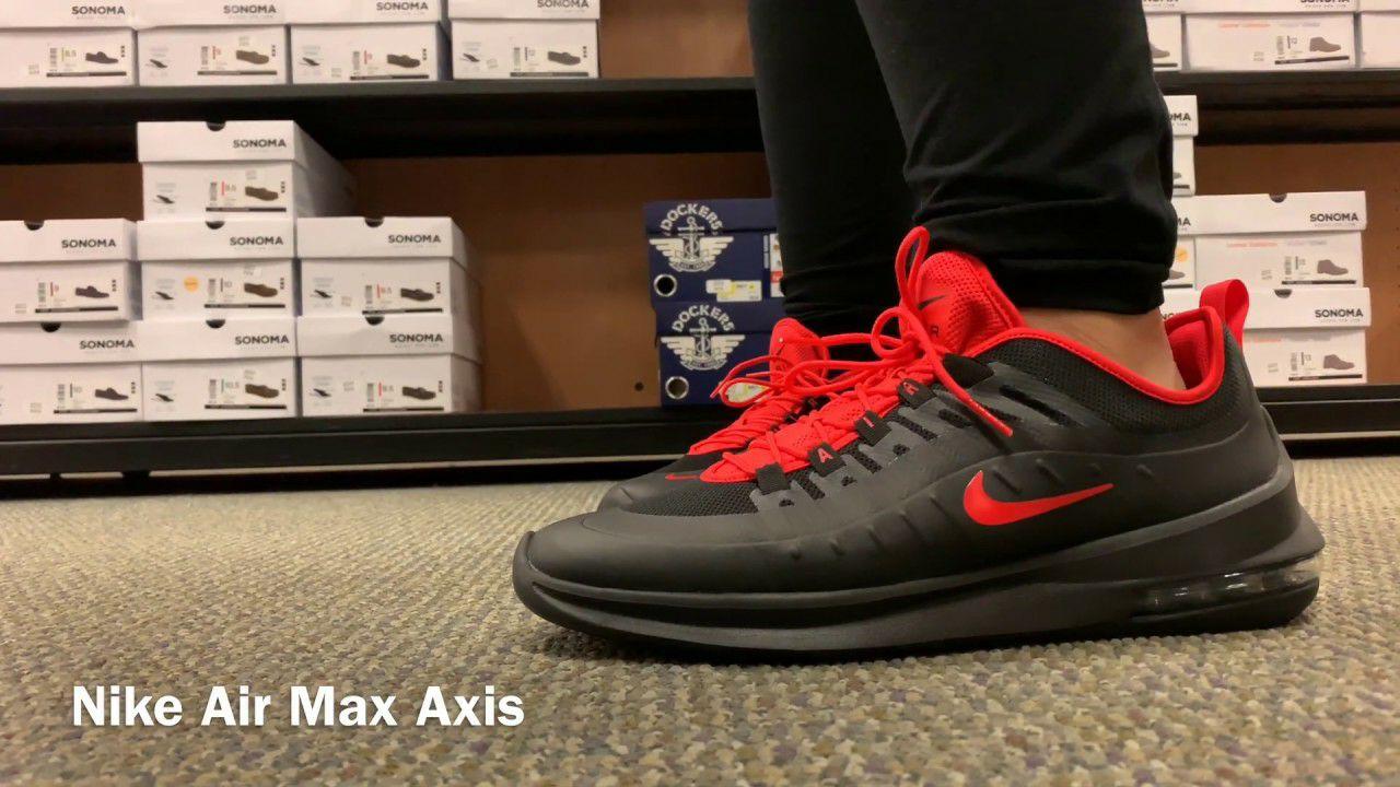NIKE AIRMAX AXIS BLACK/RED en Nike Factory Store Jerez