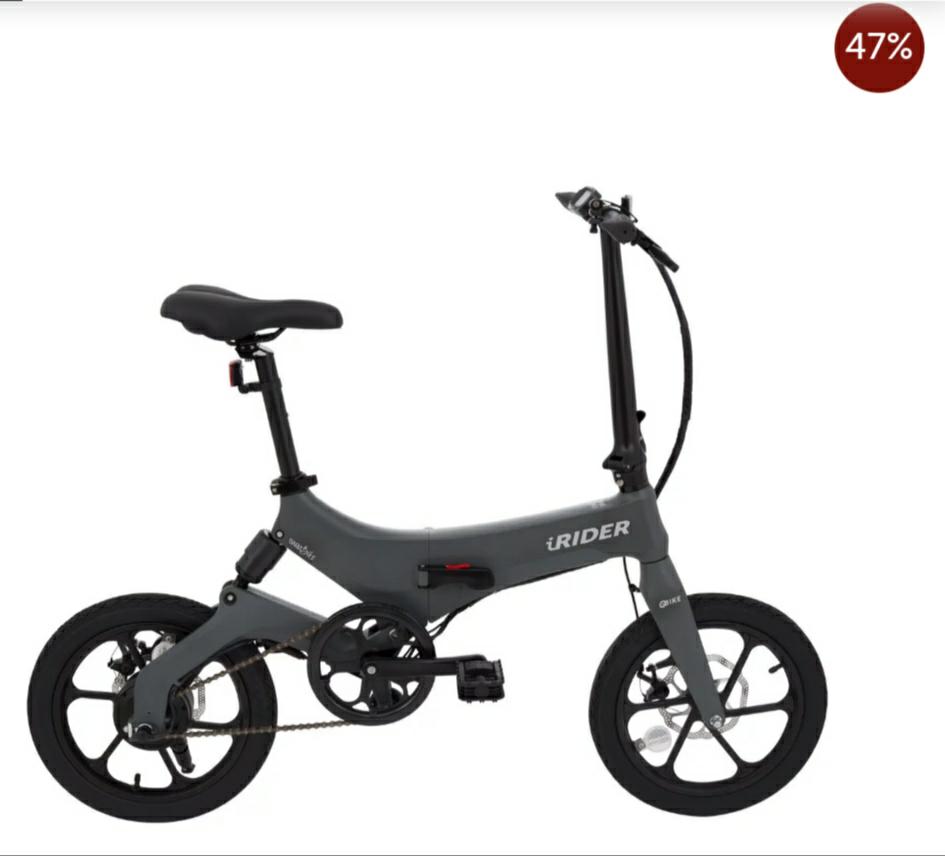Buena rebaja en esta iRider Bicicleta eléctrica plegable(+Cascochollo)