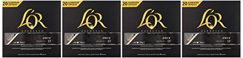 L'Or Espresso Onyx - Paquete de 4 x 20 cápsulas  Total: 80 cápsulas