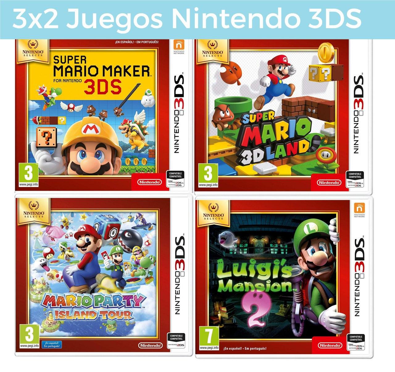 [PRIME DAY] 3x2 en juegos de Nintendo 3DS Selects