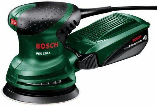 Lijadora excéntrica Bosch PEX 220 A - (220 W, plato 125 mm)