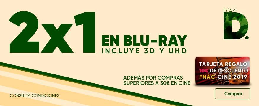 2x1 +10 euros de regalo gastando 30 Cine FNAC