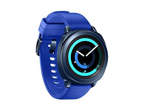 "Samsung Gear Sport - Smartwatch, Tizen, 768 MB de RAM, memoria interna de 4 GB, color azul, 1.2""- Version española de Samsung"