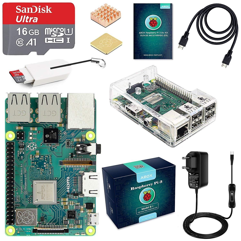ABOX Raspberry Pi 3 Modelo B+ Starter Kit