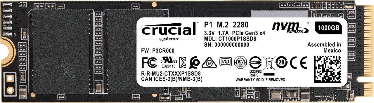 Crucial P1 Nvme 1TB a 94€