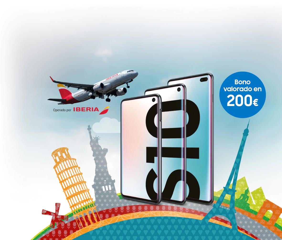 200 € en vuelos Iberia comprando un Samsung Galaxy S10e / S10 / S10+
