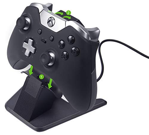Soporte y cargador de aluminio para mandos de Xbox One