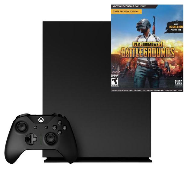 Xbox One X + juego PUBG solo 449€