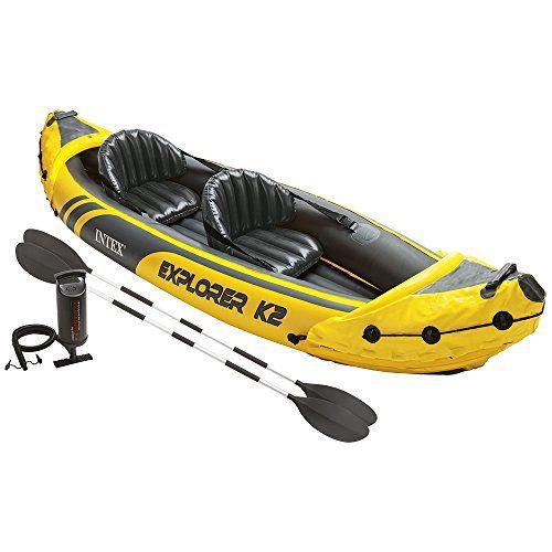 Intex 68307NP - Kayak hinchable Explorer K2 con 2 remos 312 x 91 x 51cm