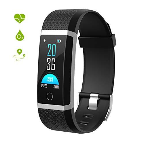 Seneo Fitness Tracker, Reloj Inteligente con Pulsómetro, IP67 Pulsera