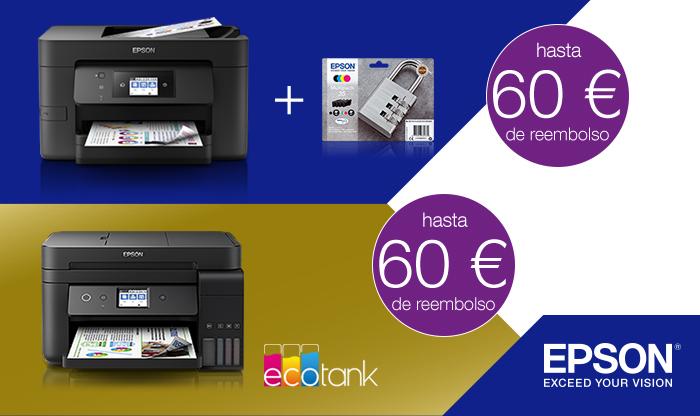 [REEMBOLSO] Impresoras EcoTank EPSON hasta 60€ de reembolso