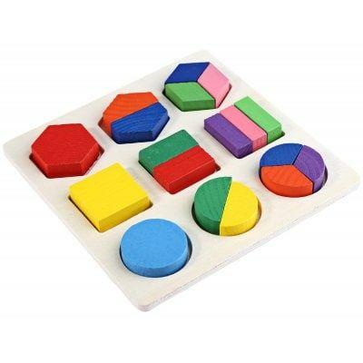 Juguete de madera del rompecabezas de la geometría 3D