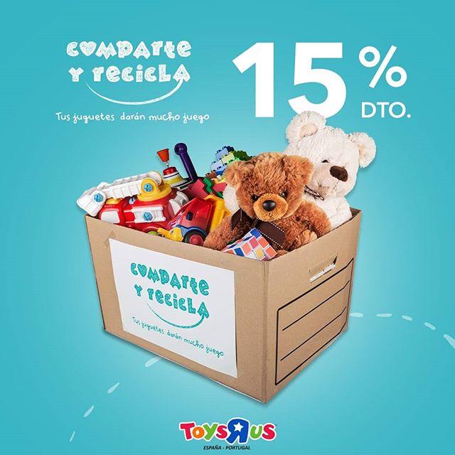 15% de descuento ToysRus en tu próxima compra online al donar juguetes