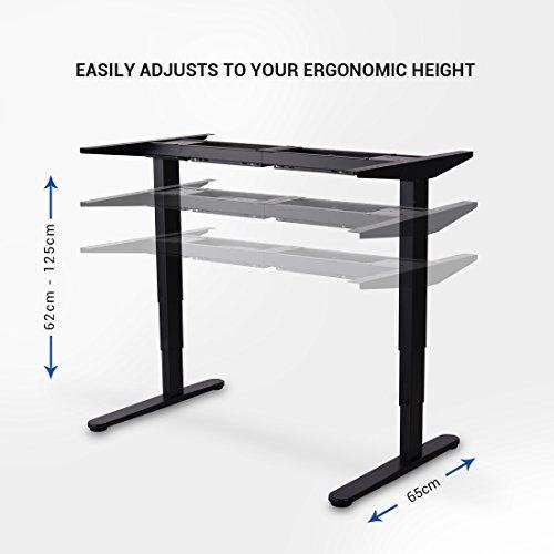 Marco para mesa de escritorio ajustable eléctrico
