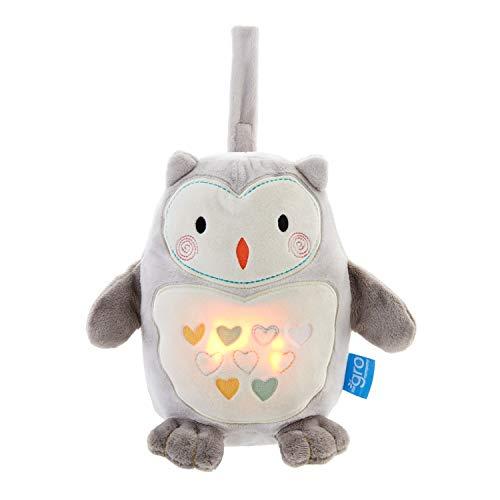 Tommee Tippee GRO Peluche Duermebebés con sensor de llanto Grofriend, Ollie el Búho