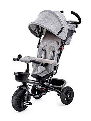 Kinderkraft Triciclo Bebé Plegable Aveo 6en1 Trike Bicicleta para Niños gris