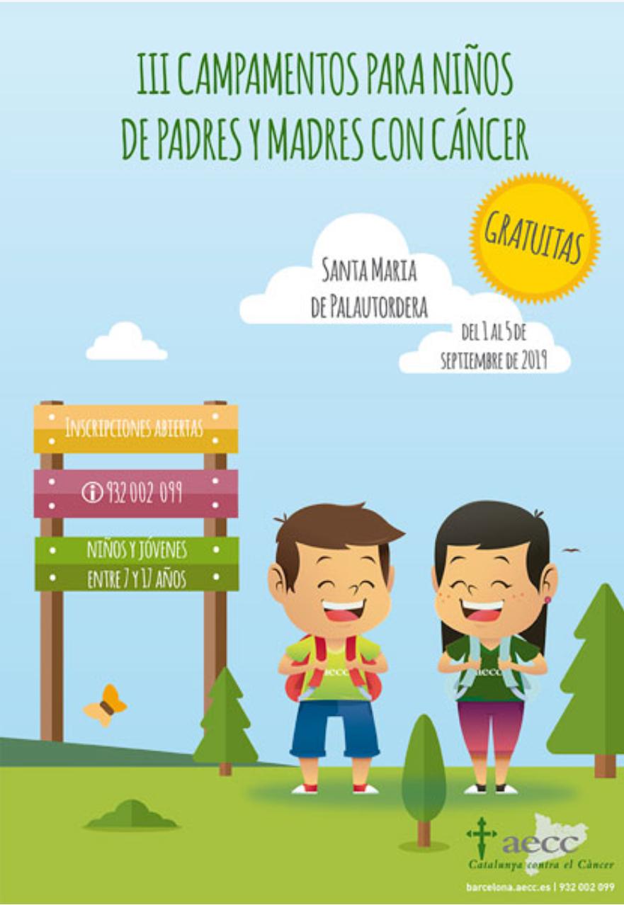 Campamentos gratuitos para niños de padres y madres con cáncer (Cataluña)
