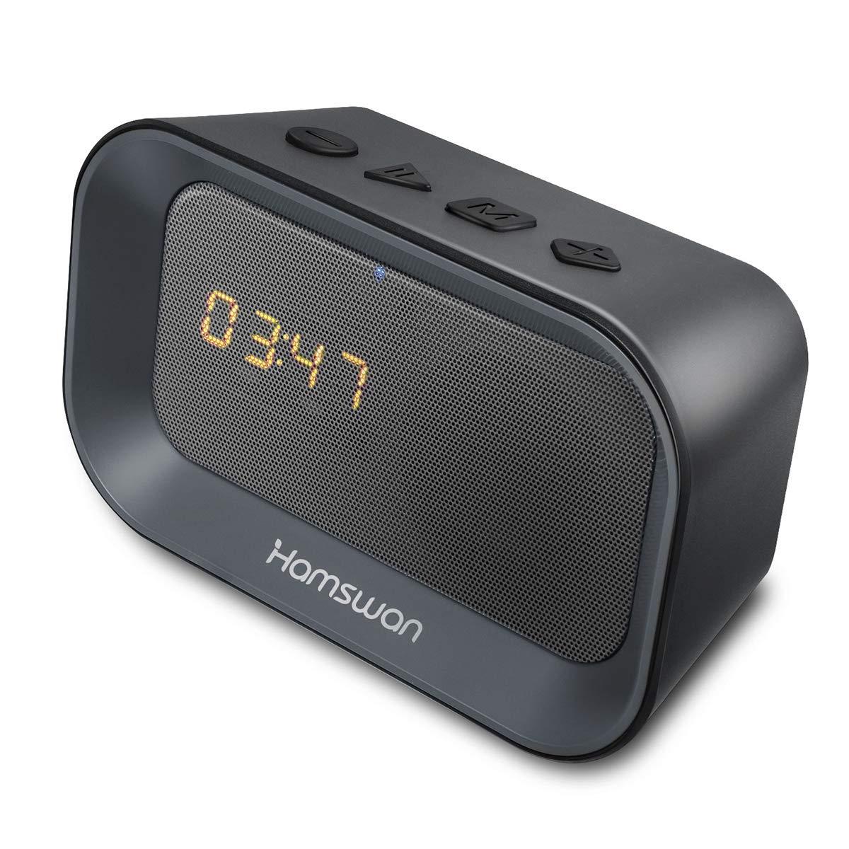 Altavoz Bluetooth con despertador y reloj