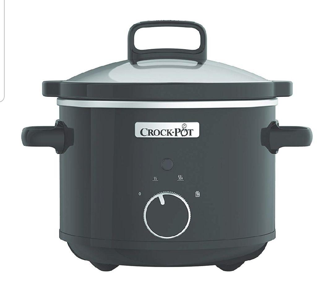 Crock-Pot CSC046X Olla de cocción lenta, 2,4 l, 180 W, Acero Inoxidable, Negro