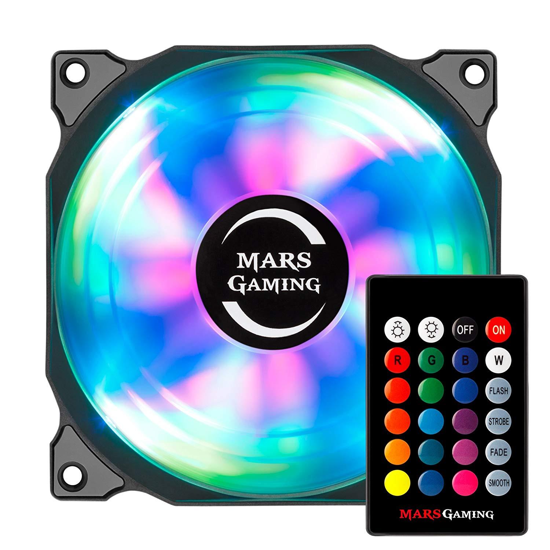 Mars Gaming MFRGB KIT - Pack 3 Ventiladores con iluminación RGB