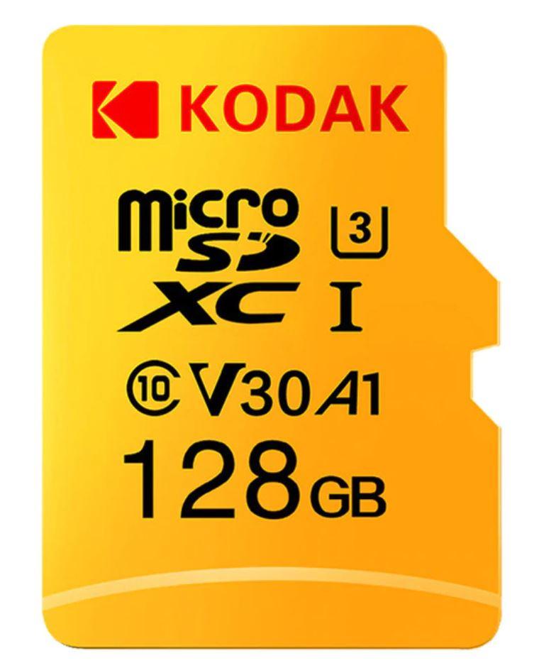 MicroSD 128GB -  100Mb/s A1 U3 KODAK