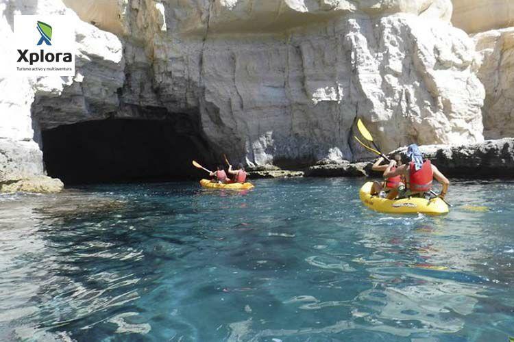 Divertida ruta en kayak por Cabo de Gata: preparación + snorkel + reportaje fotográfico+bebida
