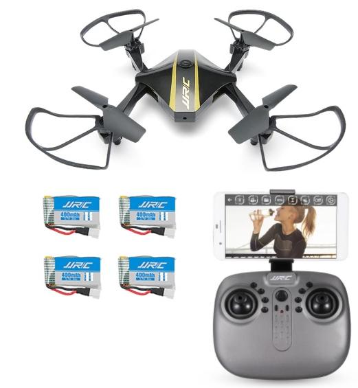 Drone JJRC FPV + 4 baterías solo 18.2€