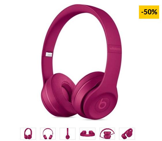 Auriculares Bluetooth BEATS Solo3 (On ear - Micrófono - Rosa)