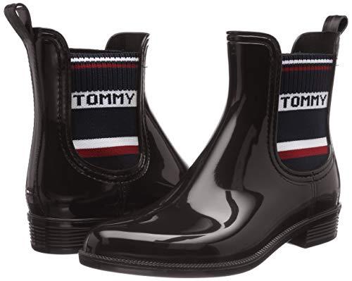Tommy Hilfiger Elastic Rain Boot, Botas de Agua para Mujer
