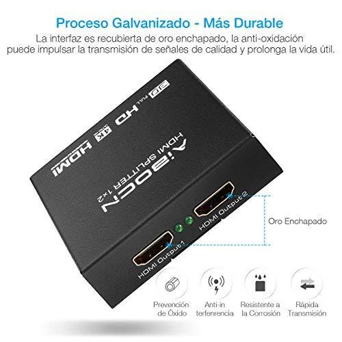 Split HDMI Aibocn por 6,99€ + pilas de regalo :)