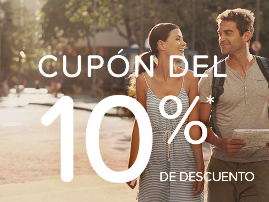 10% de descuento en hoteles.com