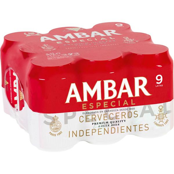 54 latas Cerveza AMBAR ESPECIAL ( 8% + 21% + 2ª al 50%)