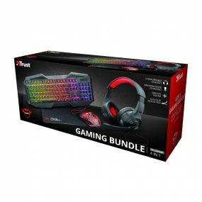 Gaming Bundle (teclado gtx, ratón, cascos con micrófono, alfombrilla)
