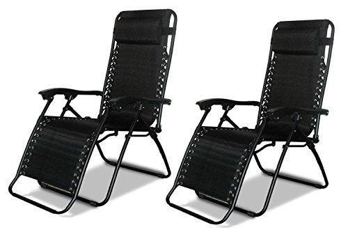2 Sillas reclinables de jardín, tumbonas de playa reclinables